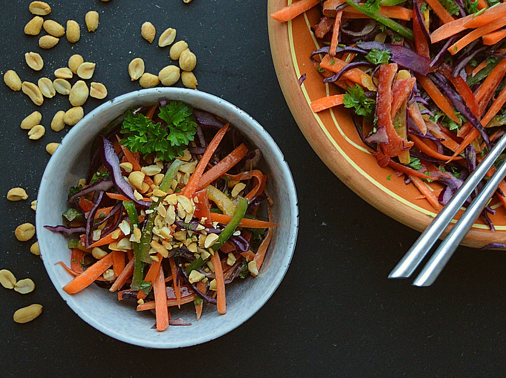 regnbue salat opskrift