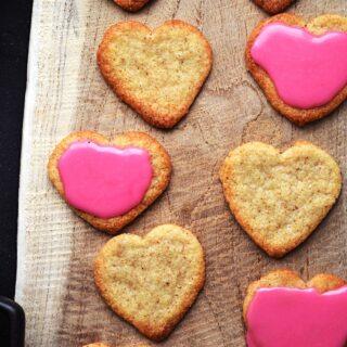 veganske valentinsdag småkager
