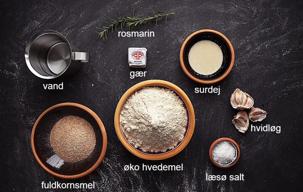 foccacia brød ingredienser