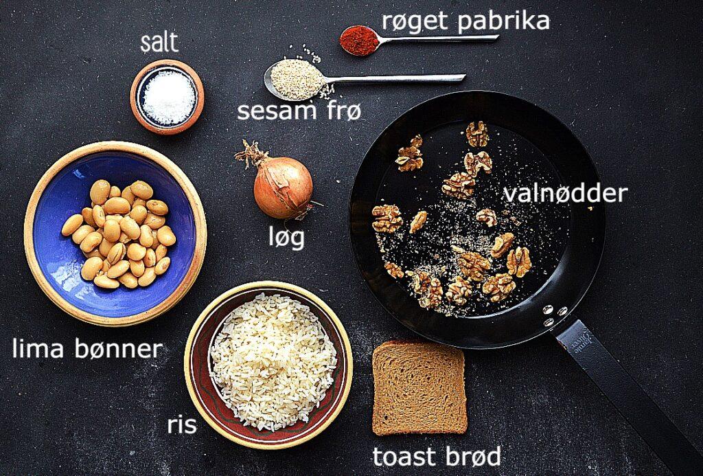 vegansk burger bøf ingredienser