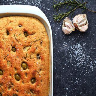 vegansk foccacia brød