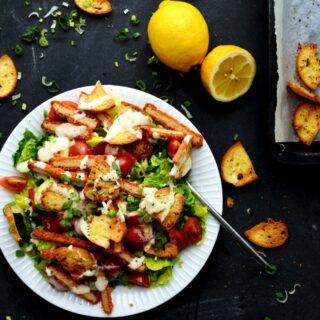 vegansk cæsar salat