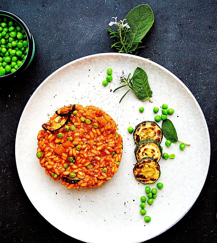vegansk sommerrisotto