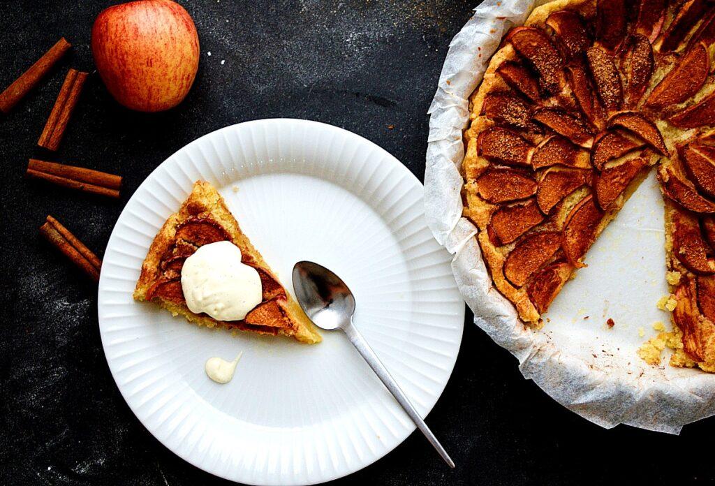 vegansk æbletærte