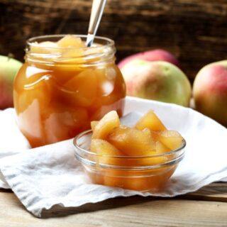 vegansk æblekompot