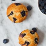 veganske blåbær muffins sukerfri